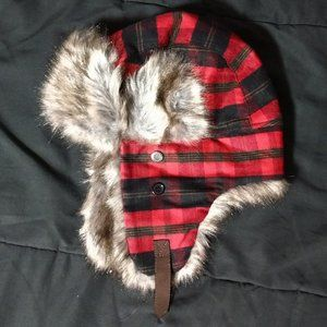 3 for 20 🖤 Target Trapper Red Plaid Fur Hat OS